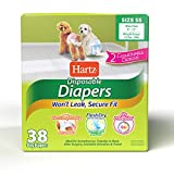 Hartz Disposable Dog Diapers with FlashDry Gel Technology SS, 38 Count