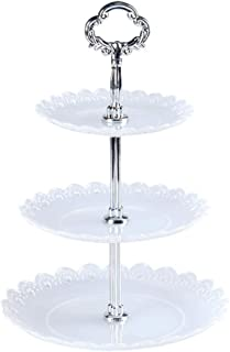 Dolloress 3 Tier Layer Dessert Cupcake Tower Display Holder Stand Display Plate Serving Tray for Wedding Party Picnic Birt...