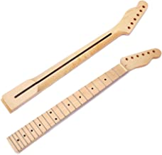 Guitar Neck for TL, 22 Fret Maple Fretboard Electric Guitar Neck with rosewood strip inlaid for Tele Electric Guitar