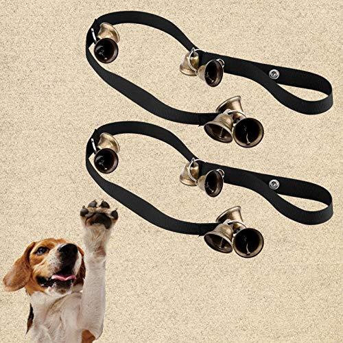 SALUTUYA 2pcs Dog Doorbells, einstellbare Länge, für das Training von Hunden, Dog Training Tool