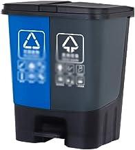 C-J-Xin Indoor Trash Can, Kitchen Bathroom Hotel Corner Garbage Container Rectangle Waterproof Plastic Recycling Bins Tras...