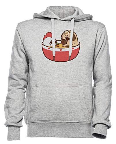 Rundi Hähnchen Nudel Puglie Herren Damen Unisex Sweatshirt Kapuzenpullover Grau Größe M - Women's Men's Unisex Hoodie Sweatshirt Grey