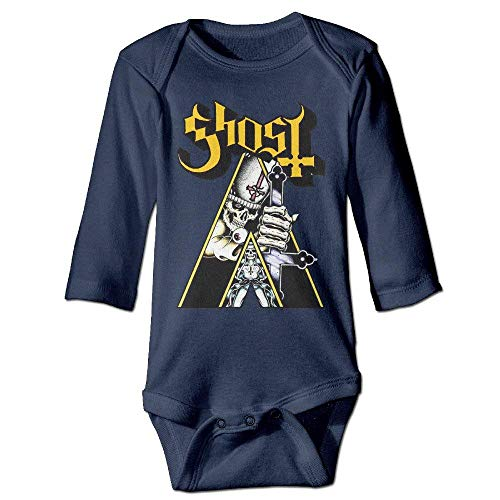 Popestar-Ghost B.C. Baby Romper Navy