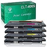 GREENSKY confeziones Cartuccia Toner Compatibile Sostitutiva per Samsung CLT-406S CLT-K406S CLT-C406S CLT-Y406S CLT-M406S per Samsung CLP-360 CLP-360N CLP-365 CLP-365W SL-C410W (4 pack)