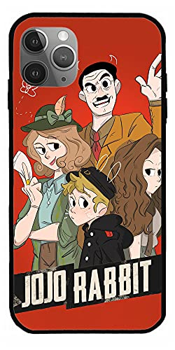 MDTEE Phone Case Compatible with iPhone 12 11 X Xs Xr 8 7 6 6s Plus Mini Pro Max Adolf Hitler JoJo Rabbit Blu Ray Comedy Drama Movie Red 2019 DVD Pure Clear Cases Cover Full Body