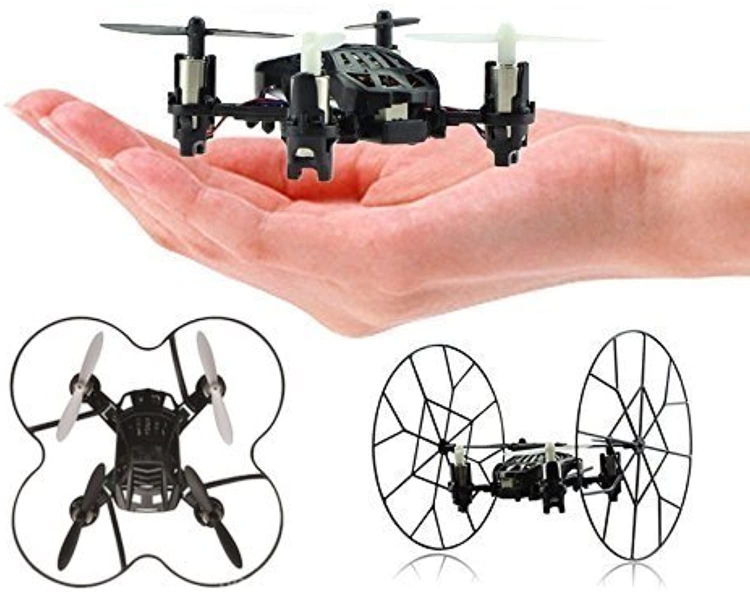 Top Race 4 Channel Micro Quad Copter Rolling Copter, Fly, Roll, and Flip, TR-MQ3