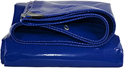 ZZYE Dekzeil Tarps Super Heavy Duty waterdichte zeildoek, grote multifunctionele, tarp poly cover zonnezeil (Color : Blue,...