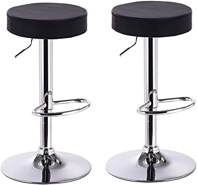 Round Stool Ha Ha Feet Rotation Bar Stool White Excellent In Cushion Effect Furniture Bar Chairs