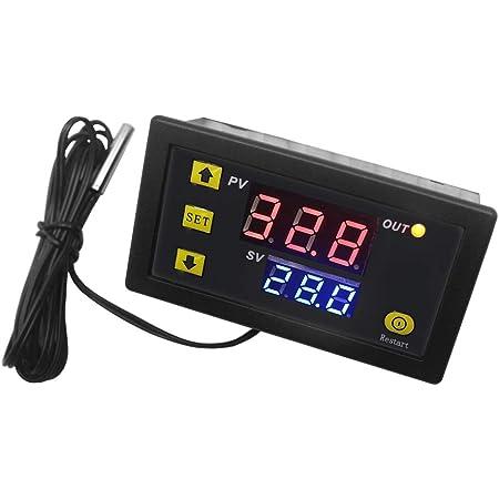 DC 110V 20A LCD Digital Thermostat Temperature Controller Meter Regulator W3230