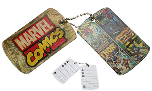 Marvel Comics - Luggage Bag Tags X 6 (3 Sets of 2)