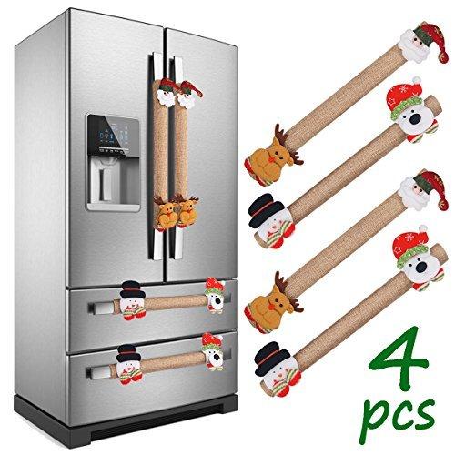 LimBridge Christmas Refrigerator Door Handle Cover, Set of 4...