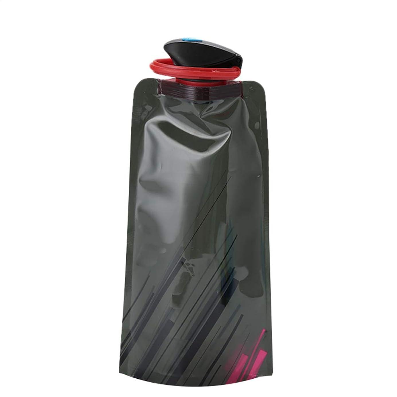 意欲不屈お願いします屋外折りたたみウォーターバッグスポーツポータブルウォーターバッグ、カラビナ付きBPA無料耐久性のある折り畳み式フレキシブルクライミングウォーターボトル