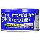 チャオ (CIAO) キャットフード かつお&おかか(かつお節) 85g×24缶 (まとめ買い)