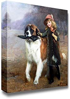 Off to School by Charles Burton Barber - Famous Painting Reproduction Pictures Paintings on Canvas Wall Art for Bedroom Home Decorations - 24