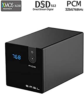 SMSL M100 USB DAC AK4452 DSD512 32Bit/768kHz Coaxial Optical OTG Input AUX Power Hifi Audio Decoder (Black)