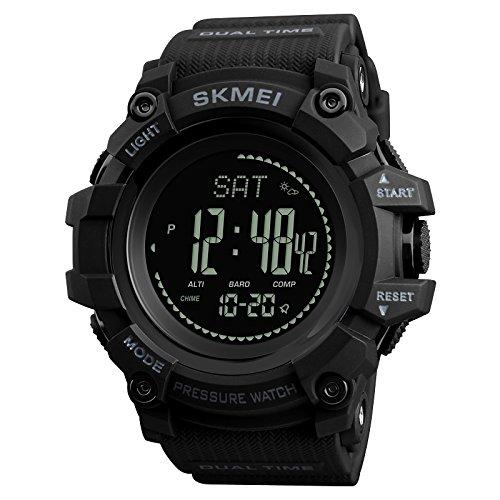 SKMEI 1358 Waterproof Digital Smart Outdoor Sports Watch Black