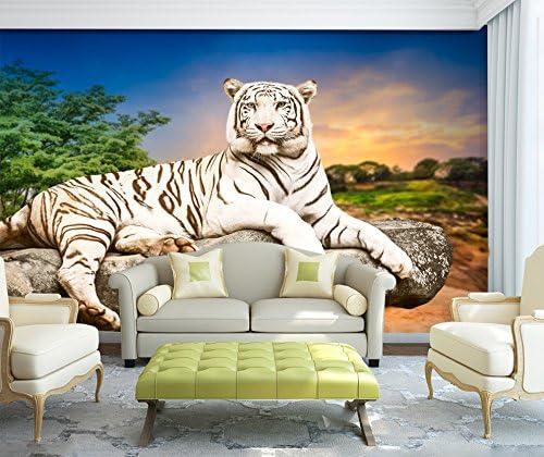 Abstract Tiger Face Head Wall Art Wall Mural Self Adhesive Vinyl Wallpaper