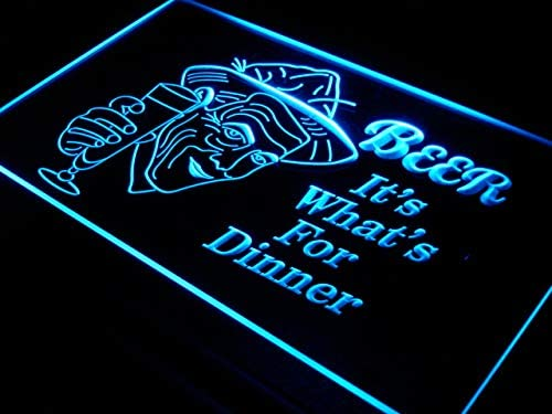ADVPRO Beer It's 2021new shipping free What for Dinner Bar Neon Jacksonville Mall Blue LED x 16 Sign 24
