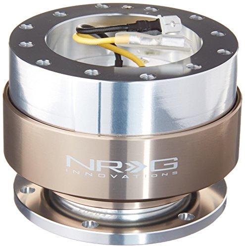 NRG Steering Wheel Quick Release Kit - Gen 1.0 - Silver/Titanium - Part # SRK-100TI
