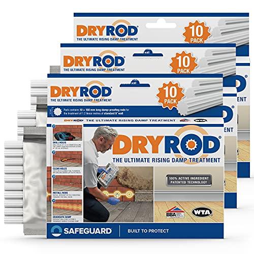 Dryrod barritas secadoras antihumedad para paredes húmedas - La nueva generación de tratamiento contra la humedad por capilaridad (Paquete de 10 x 3)