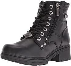 Harley-Davidson Women's Inman Mills Motorcycle Boot, Black, 11 M US
