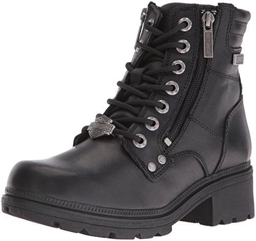 Harley-Davidson Women's Inman Mills Motorcycle Boot, Black, 9 M US
