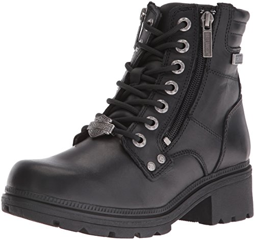 Harley-Davidson Women's Inman Mills Motorcycle Boot, Black, 8.5 M US