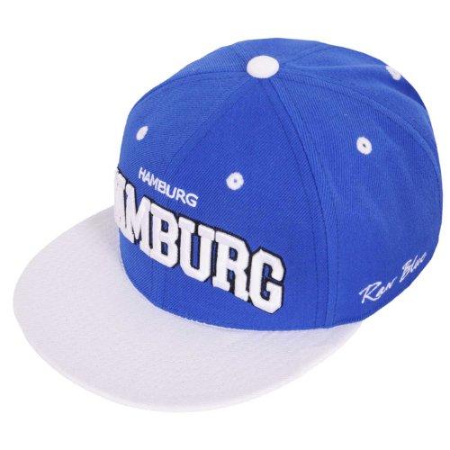 Raw Blue Cityline Hamburg Snapback Cap in Royal / White