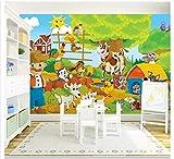 Blovsmile Papel de pared para mayores imagen moderna y simple, Fondo de sala para niños y granja, papel de pared 3d A-250x200cm(WxH)