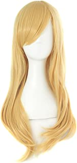 "MapofBeauty 24""/60cm Girls Long Anime Side Bangs Great Wavy Curly Cosplay Party Wig (Orange Yellow)"