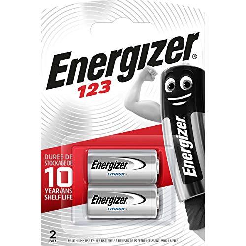 Energizer CR123 Batterien, Lithium Knopfzelle, 2 Stück
