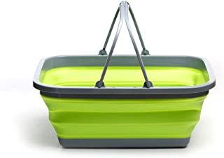 ROADIE Collapsible Tub with Handle – 29 L Portable Outdoor Picnic Basket/Crate - Foldable Shopping Bag - Space Saving Stor...
