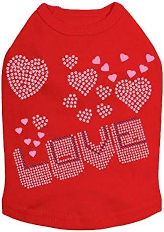 Online Washington Mall limited product Love Pink Purple - Red 2XL Dog Shirt