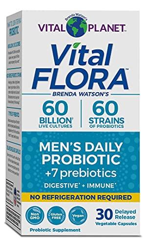 Vital Planet - Vital Flora 60/60 Shelf Stable Men's Probiotic 30 Capsules