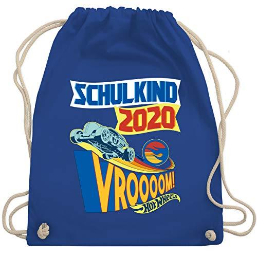 Shirtracer Hot Wheels Tasche - Schulkind 2020 - Vroooom! - Unisize - Royalblau - WM110_Stoffbeutel - WM110 - Turnbeutel und Stoffbeutel aus Baumwolle