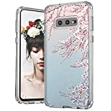 MOSNOVO Galaxy S10e Case, Cherry Blossom Floral Flower Printed Clear Design Transparent Plastic Hard Back Case with TPU Bumper Protective Case Cover for Samsung Galaxy S10e