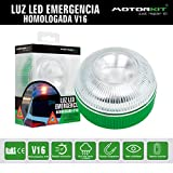Motorkit Luz magnética LED de Emergencia homologada (V16) de Alta luminancia, sustituye a los...