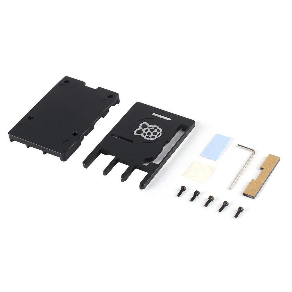 Kinshops Caja CNC de aleación de Aluminio Ultrafina 3B + para Raspberry Pi 3 Mode B3 + Caja portátil de Metal Nueva versión para 3B + Negro: Amazon.es: Hogar