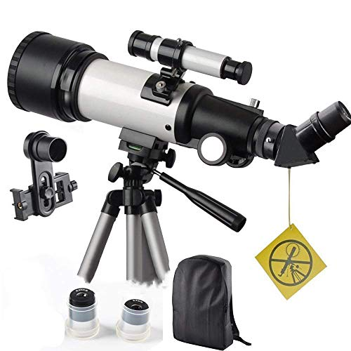 WUAZ Telescopio para niños y Principiantes de Viajes Ámbito 70mm 400