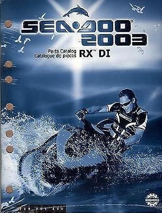 2003 sea doo watercraft rx di parts manual new p/n 219 301 490 (216)  paperback – 2003