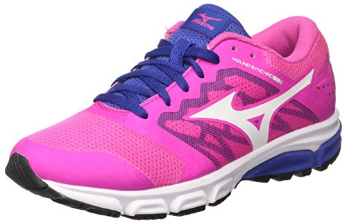 Mizuno Synchro MD W, Zapatillas de Running para Mujer, Multicolor (Electric/White/deepultramarine), 37 EU