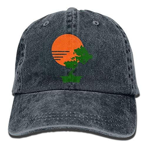 Vintage Style Jiu Jitsu Silhouette Unisex Custom Jeans Sun Hat Adjustable Baseball Cap