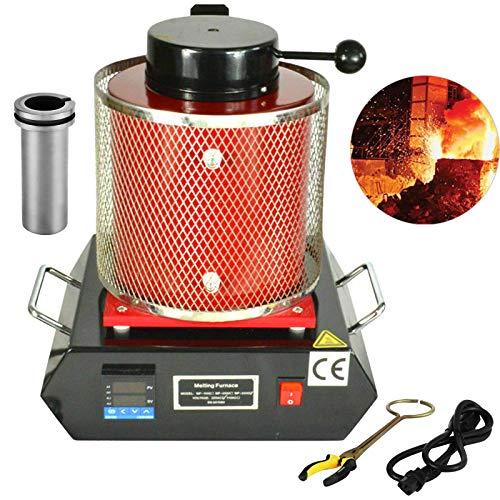 BuoQua 2kg Forno per Oro 1100℃ Fusione Metalli O I Giielli 1800W Forno Fusione Elettrico 2 kg Crogiolo Fusione Metalli Grafite Flask Crucible (2kg)