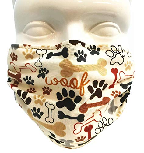 Breathe Healthy Mask - Dog Bones and Paw Prints (Adult)