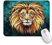 ECOMAOMI 可愛いマウスパッド ライオンアスラン絵画 滑り止めゴムバッキングマウスパッドノートブックコンピュータマウスマット