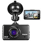 FMAIS Cámara de Coche Dash Cam Full HD 1080P, Cámara para Coche Grabadora Interior DVR, G-Sensor, WDR, Monitor de Aparcamiento, grabación en Bucle y detección de Movimiento, Visión Nocturna