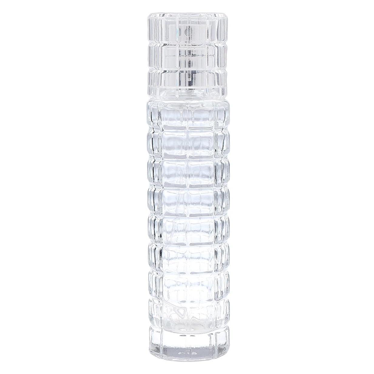 生態学爪密Fenteer ミニ 詰め替え可能 耐久性 ガラス 空 香水瓶 旅行 香水 スプレーボトル アトマイザー 30ml 全2色 - クリア