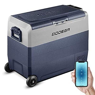 BODEGA 12 Volt Refrigerator, Portable Freezer, Car Fridge Dual Zone APP Control, 64 Quart?60L?-4?-68? RV Electric Compressor Cooler, 12/24V DC and 100-240V AC for Outdoor, Vehicles, Camping, Travel