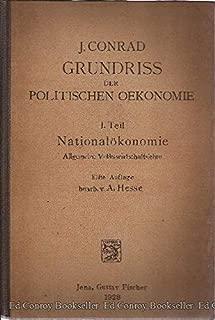Grundriss Der Politischen Oekonomie *6 Volumes*