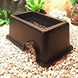 Tfwadmx Reptile Hide Box, Gecko Hideout and Cave with Water Supply for Lizards Snakes Leopard Gecko Spiders Frog